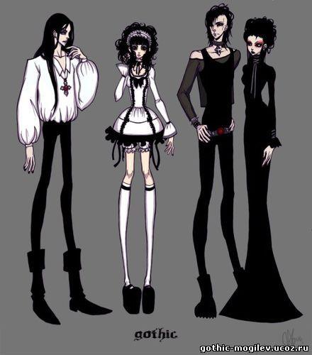 Девушки аниме готы